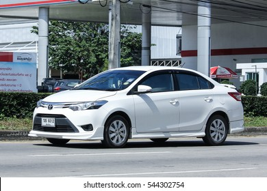 CHIANG MAI, THAILAND - NOVEMBER  13  2016: Private car, Toyota Vios. On road no.1001, 8 km from Chiangmai Business Area.