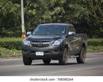 CHIANG MAI, THAILAND -NOVEMBER 21 2017: Private Pickup car, Mazda BT-50 Pro. Photo at road no 121 about 8 km from downtown Chiangmai, thailand.