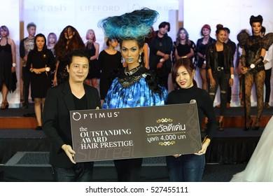 "Chiang Mai, Thailand - November 24, 2016, Competition of ""Lifeford Paris Princess Bridal Makeup Contest, Dcash Master Color Hair Paradigm Prize 2016"""