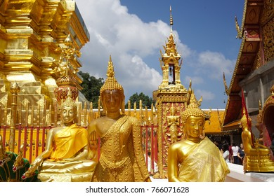 Chiang Mai, Thailand - Oct 28, 2017: Wat Phra That Doi Suthep is a temple overlooking the northern thai city of Chiang Mai and one of the most revered temples in the Kingdom.