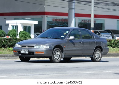 CHIANG MAI, THAILAND - OCTOBER  27  2016: Private car, Honda accord. On road no.1001, 8 km from Chiangmai Business Area.