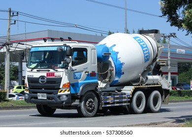 CHIANG MAI, THAILAND - OCTOBER  31  2016: Concrete truck of CPAC Concrete product company. Photo at road no.121 about 8 km from downtown Chiangmai, thailand.
