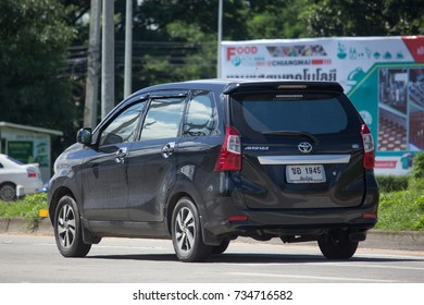 CHIANG MAI, THAILAND -OCTOBER 6 2017:  Private Toyota Avanza car. Mini Suv Car for Urbun User. Photo at road no.121 about 8 km from downtown Chiangmai thailand.