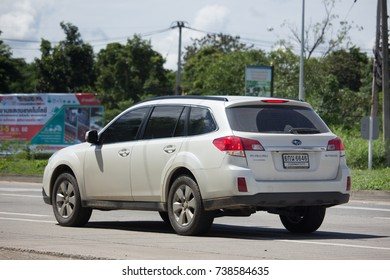 CHIANG MAI, THAILAND -OCTOBER 6 2017: Private Suv car, Subaru Outback. Photo at road no.121 about 8 km from downtown Chiangmai, thailand.