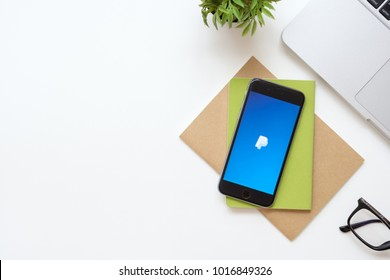 CHIANG MAI, THAILAND - Sep 23, 2017: Apple iPhone with Paypal application on the screen. Paypal is an American company operating a worldwide online payments system.
