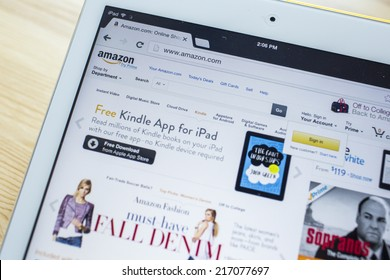 CHIANG MAI, THAILAND - SEPTEMBER 07, 2014: Amazon.com, Inc. is an American international electronic commerce company. It is the world's largest online retailer. Site went online as Amazon.com in 1995.