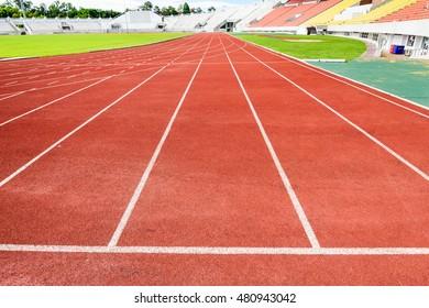 CHIANG MAI, THAILAND, SEPTEMBER, 2016, 3 : Running track inside the stadium