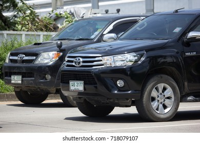 CHIANG MAI, THAILAND -SEPTEMBER 4 2017: Private Pickup Truck Car Toyota Hilux Revo. On road no.1001, 8 km from Chiangmai city.