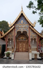 Chiang Mai Thailand, temple in the Wat Phra That Doi Suthep complex