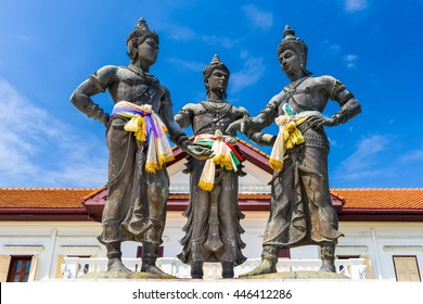 Chiang Mai, Thailand Three Kings Monument.