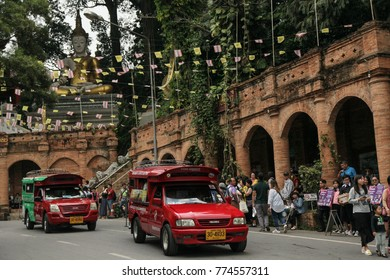 CHIANG MAI THAILAND-December 10,2017. Lots of tourist during the holiday in front of Wat Suthep in Chiangmai. Wat Suthep is one of the most popular for tourist in Chiangmai.