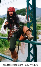 Chiang Mai, Thailand-January 2, 2012: Jack Sparrow Cosplay, The practice of dressing up as a character from a film.