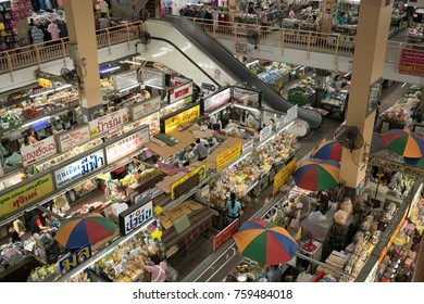 Chiang Mai, Thailand-November 12, 2017: Warorot market: One of the oldest and favorite market in Chiang Mai