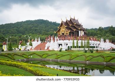 Chiang Mai THAILAND-November 2 :Ho Kham Luang at Royal Park Rajapruek in Chiang Mai on November 2,2017 in Chiang Mai ,Thailand.
