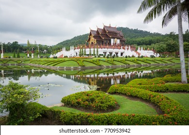 Chiang Mai THAILAND-November 2 :Ho Kham Luang at Royal Park Rajapruek in Chiang Mai on November 2,2017 in Chiang Mai ,Thailand.