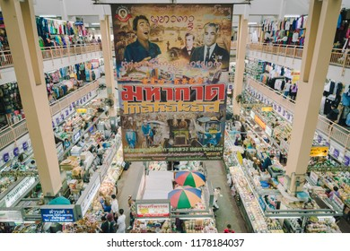 Chiang Mai, Thailand-September 1, 2018: Warorot market(Kad Luang): One of the oldest and favorite market in Chiang Mai