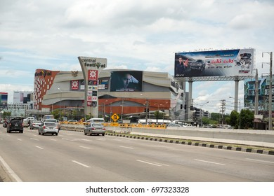 CHIANG MAI,THAILAND - AUGUST 13, 2017: CentralPlaza festival Chiangmai, also known as Central festival  Plaza, is a shopping mall in Mueang District, Chiang Mai.