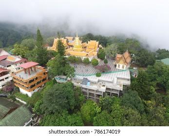 CHIANG MAI,THAILAND - CIRCA March 2017 :cloudy day doi suthep temple