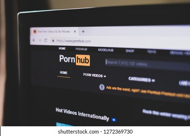 CHIANG MAI,THAILAND - Jan 1,2019: screen of pornhub website top porn website in the world.