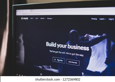 CHIANG MAI,THAILAND - Jan 1,2019: screen of shopify website online store.