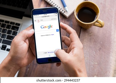 CHIANG MAI,THAILAND - JULY  08,2015:Google is an American multinational corporation specializing in Internet-related services and products. Most of its profits are derived from AdWords.