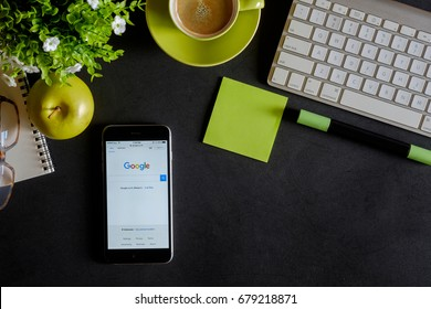 CHIANG MAI,THAILAND - JULY 17,2017: Google is an American multinational corporation specializing in Internet-related services and products. Most of its profits are derived from AdWords.