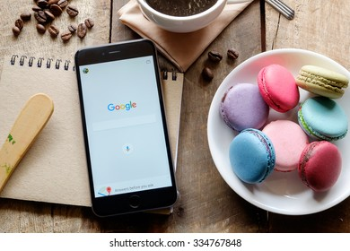 CHIANG MAI,THAILAND - NOV 3,2015:Google is an American multinational corporation specializing in Internet-related services and products. Most of its profits are derived from AdWords.