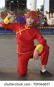 CHIANG MAI,THAILAND - September 3, 2017:Cosplayers dressed as characters from the anime and game at Ruamchok Mall Chiang Mai, Thailand.