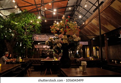 CHIANG MAI,THAILAND-APRIL 21,2015:Interior design and decoration of 'Escudo Supper Club' local restaurant and bar