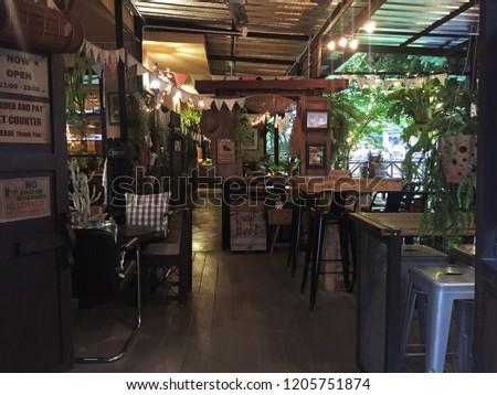 CHIANG MAITHAILANDAPRIL 242016 Interior Restaurant Decoration ...