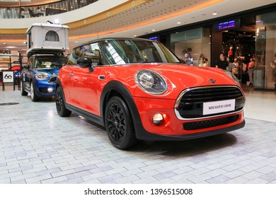 CHIANG MAI,THAILAND,April 27-2019: The New MINI HATCH 3-DOOR at MINI Roadshow 2019 central festival chiangmai,Thailand