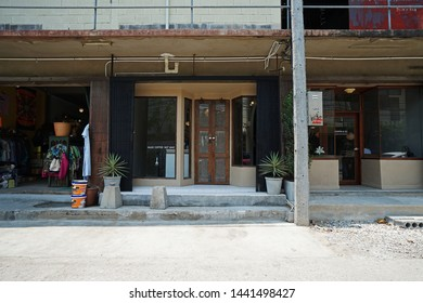CHIANG MAI,THAILAND-APRIL 28,2019:Exterior frontstore design and decoration of 'LOOPER AND CO' local coffee cafe and cocktail bar