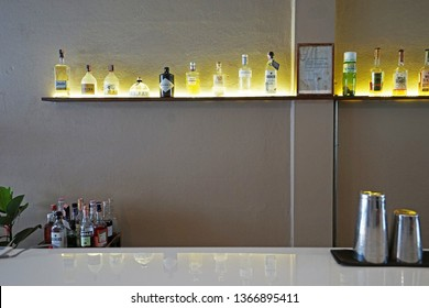CHIANG MAI,THAILAND-APRIL 9,2019:Interior design and decoration of 'LOOPER and CO' ,local coffee shop and cocktail bar