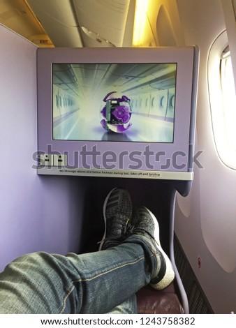chiang maithailandaugust 112017 aircraft cabin design interior の