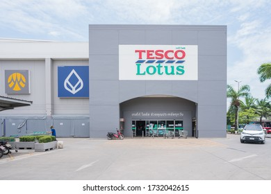 CHIANG MAI,Thailand,MAY 15,2020:Tesco Lotus,Is a large department store of Thai people Which sells both consumer goods, food, beverages, clothing and electrical appliances That is highly popular.TH