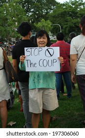 CHIANG MAI,THAILAND-MAY 24 : Atmosphere of people against coup or junta by symbolic speech and show activity, On May24, 2014.