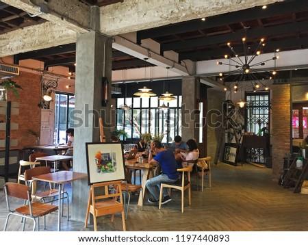 CHIANG MAITHAILANDOCTOBER 72018 Interior Design Decoration Local ...