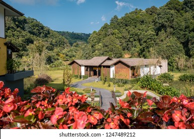 Chiang Mia Mon Cham Thailand November 2018, Onsen Spa Hotel at Mon Jam in the mountains