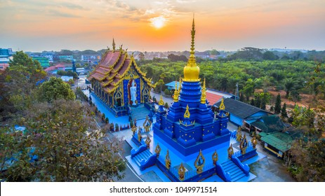 Chiang Rai Blue Temple or Wat Rong Seua Ten is located in Rong Suea Ten in the district of Rimkok a few kilometers outside Chiang Rai