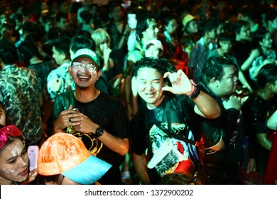 Chiang Rai Thailand- APRIL 12-13: Songkran Festival is celebrated in Thailand as the traditional New Year's Day from 12 to 15 April by throwing water at each other, on 12-15 April 2018 in Thailand