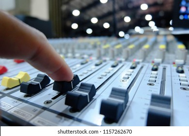 Chiang rai, Thailand - August 10, 2018: sound mixing console, 