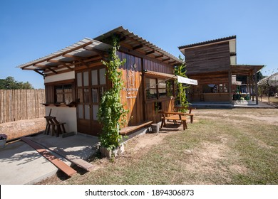 CHIANG RAI, THAILAND - DEC 29: Unidentified peoples visit Hug Hom Mai Farm and Cafe, is a famous attraction in Chiang Rai with homemade local food, dessert and outdoor activities on Dec 29, 2020