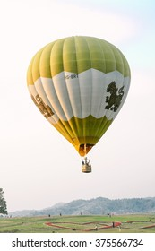 CHIANG RAI, THAILAND FEBRUARY 12, 2016:Singha Park Chiang Rai Balloon Fiesta 2016 will take place between February 10th and 14th at Singha Park Chiang Rai.