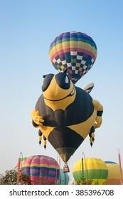 CHIANG RAI, THAILAND FEBRUARY 14, 2016:Singha Park Chiang Rai International Balloon Fiesta 2016 will take place between February 10th and 14th at Singha Park Chiang Rai.