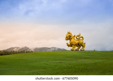 Chiang Rai, Thailand - July 15, 2017: Singha Park the famous agriculture tourist destination in Chiang Rai province. There are many restaurants, zoo and adventure activities in the park.