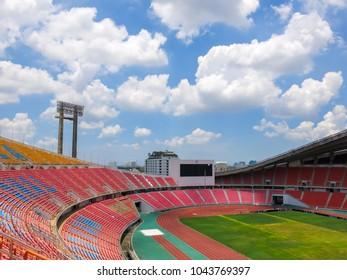 CHIANG RAI, THAILAND, MAY 2013: View image of football stadium in bangkok,  Thailand