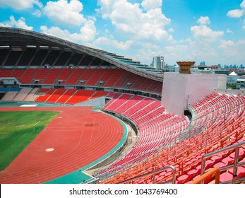 CHIANG RAI, THAILAND, MAY 2013: View image of football stadium in bangkok,  Thailand
