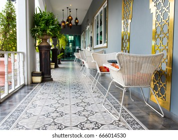 CHIANG RAI, THAILAND - May 26, 2017: Relax zone at the hotel decorate with morocco style.