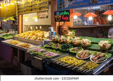 CHIANG RAI, THAILAND - NOVEMBER 05, 2014: Food Court at Chiang Rai Night Market.
