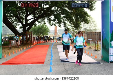 Chiang Rai THAILAND-5:11: 2019:Overbrook Hospital Minimarathon 2019 in Chiang Rai Thailand People Running at city. Streets.